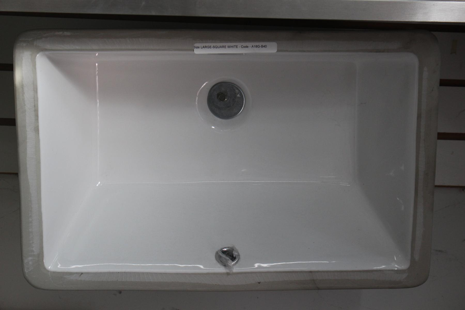 Large Square Vanity Sink - White